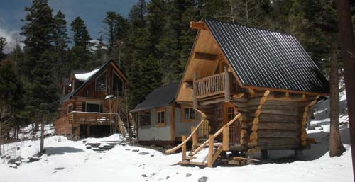 Ridgerunner Cabin, game room, and Staab House. Taos Ski Valley, New Mexico
